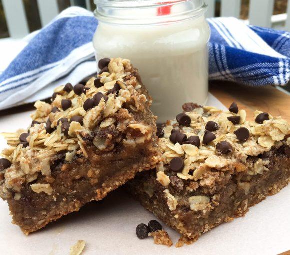 almonds, oats, oat bars, vegan, gluten-free oats, chocolate chips, espresso