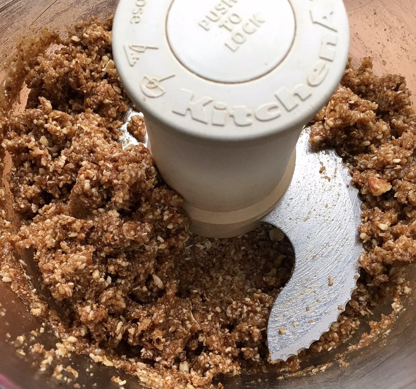 almonds, oats, cookie dough, oat bars, espresso, gluten free oats, vegan