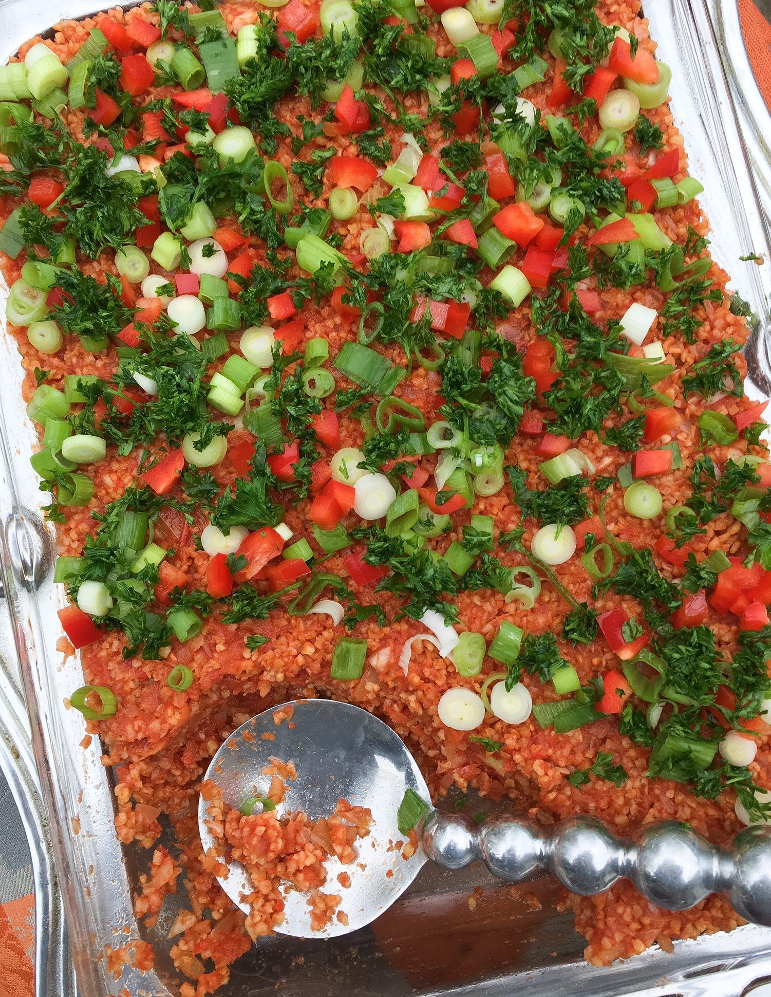eetch, armenian, armenian food, bulgur, green onion, parsley