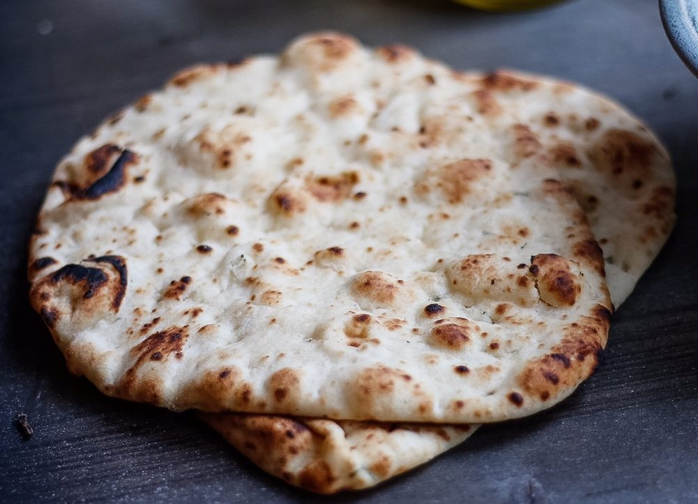 baba ganoush, flatbread, naan, superbowl, eggplant