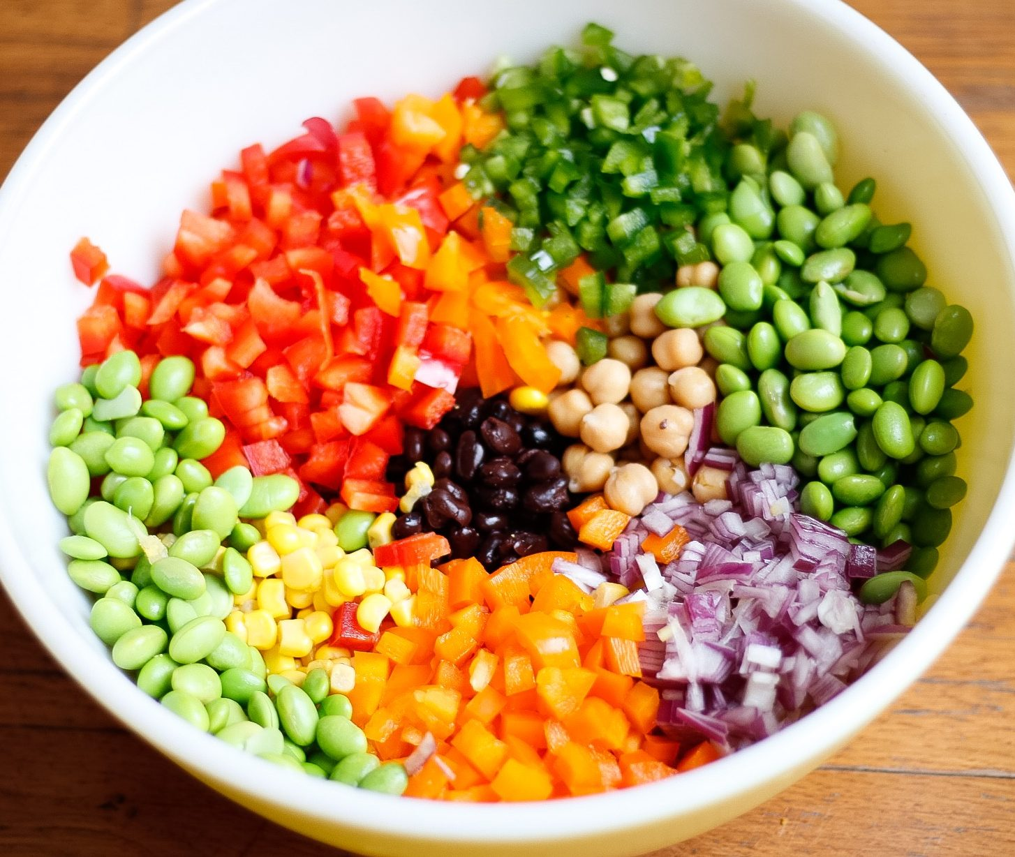 edamame caviar, cowboy caviar, eat the rainbow, superbowl appetizer