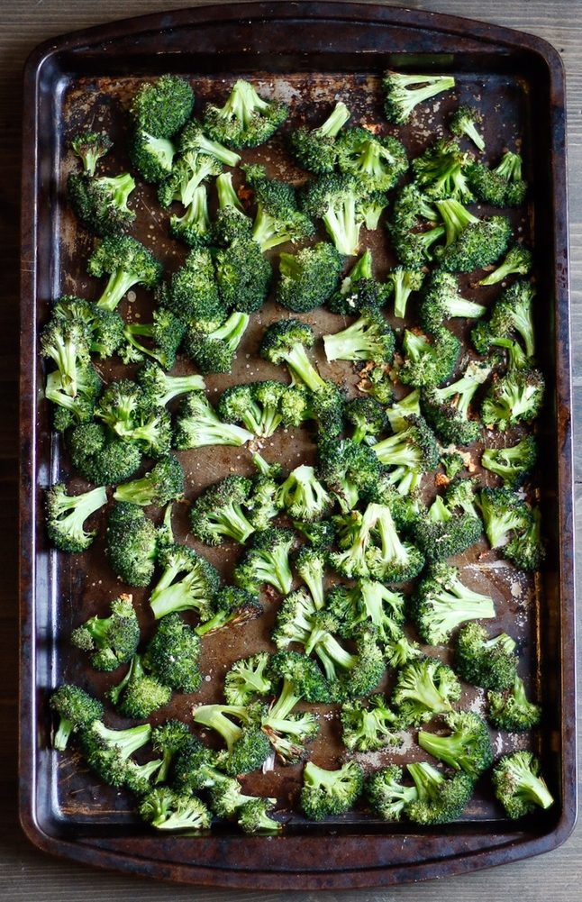 sheet pan roasted broccoli pasta, roasted broccoli