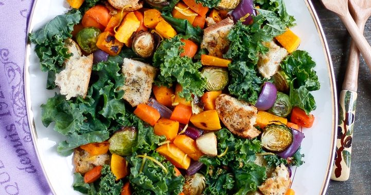 Roasted vegetable platter ina garten Barefoot contessa panzanella