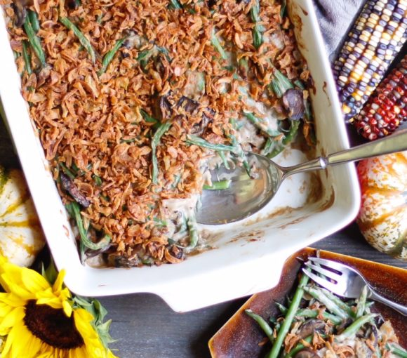 greenbean casserole, green bean casserole, vegan green beans, vegan greenbean casserole, thanksgiving recipes, vegan thanksgiving recipes