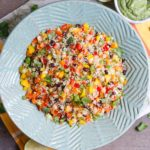 Tex-Mex Quinoa Salad with Creamy Avocado Cilantro Dressing