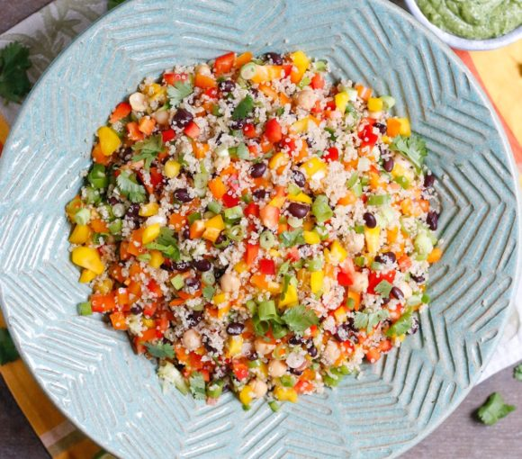 tex-mex quinoa salad, quinoa salad, quinoa black bean salad, quinoa