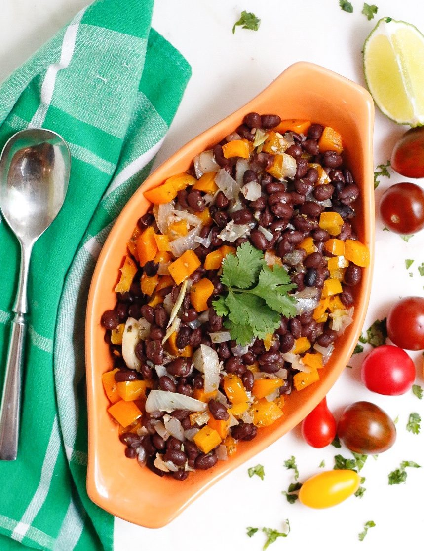 zesty black beans and cilantro lime rice, zesty black beans, cilantro lime rice, beans and rice, mexican food, vegan beans and rice