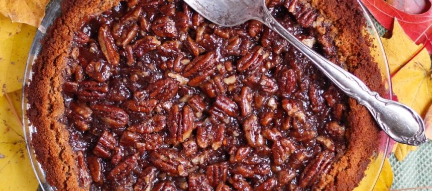 Pecan Pie {vegan, reduced sugar, no corn-syrup}