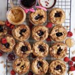 Peanut Butter and Jelly Muffins with Protein