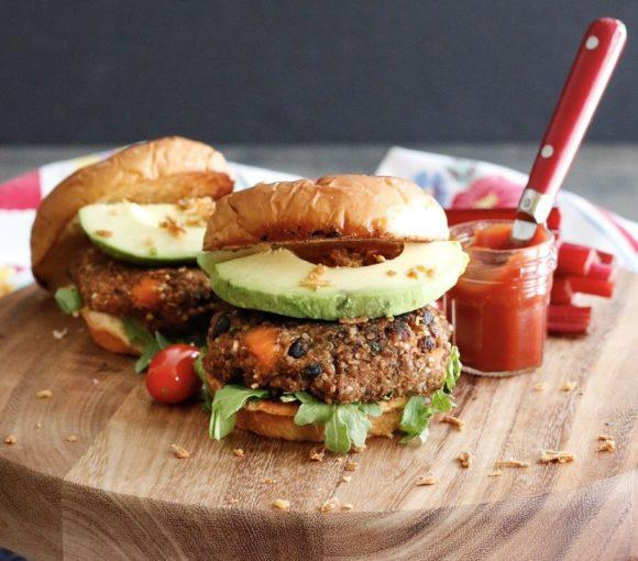 black bean burger, sweet potato black bean burger, veggie burger