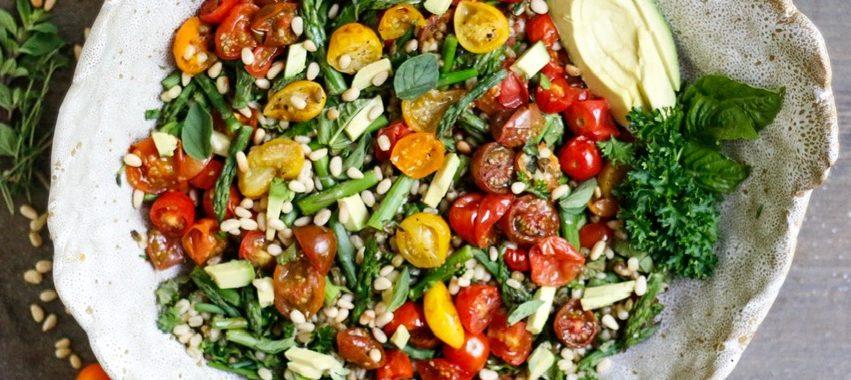 Tomato and Asparagus Mung Bean Salad