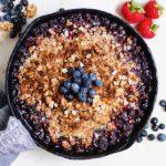 Skillet Blueberry Crisp