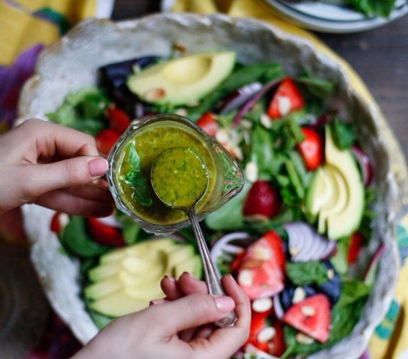 citrus basil vinaigrette, basil vinaigrette, basil salad dressing