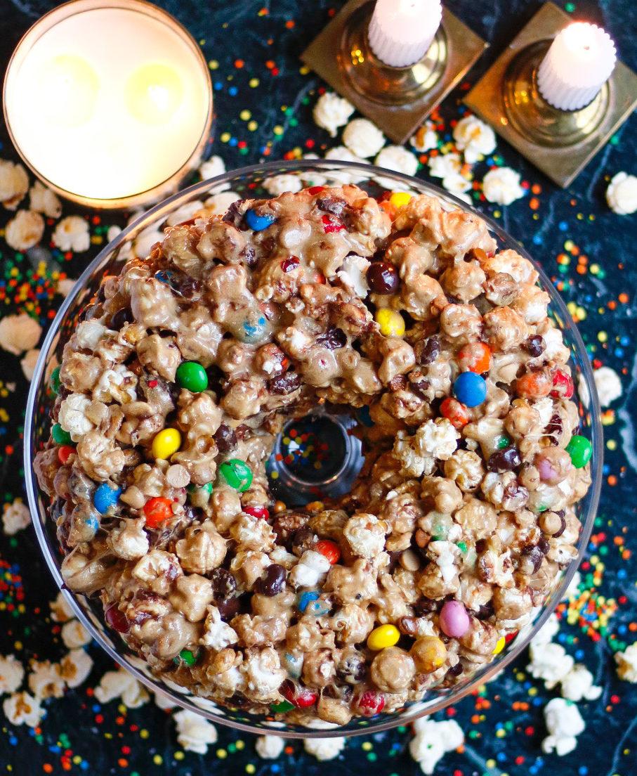 popcorn cake, popcorn