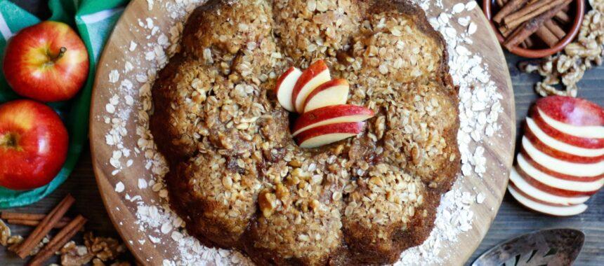 Oatmeal Apple Fritter Bread {vegan}