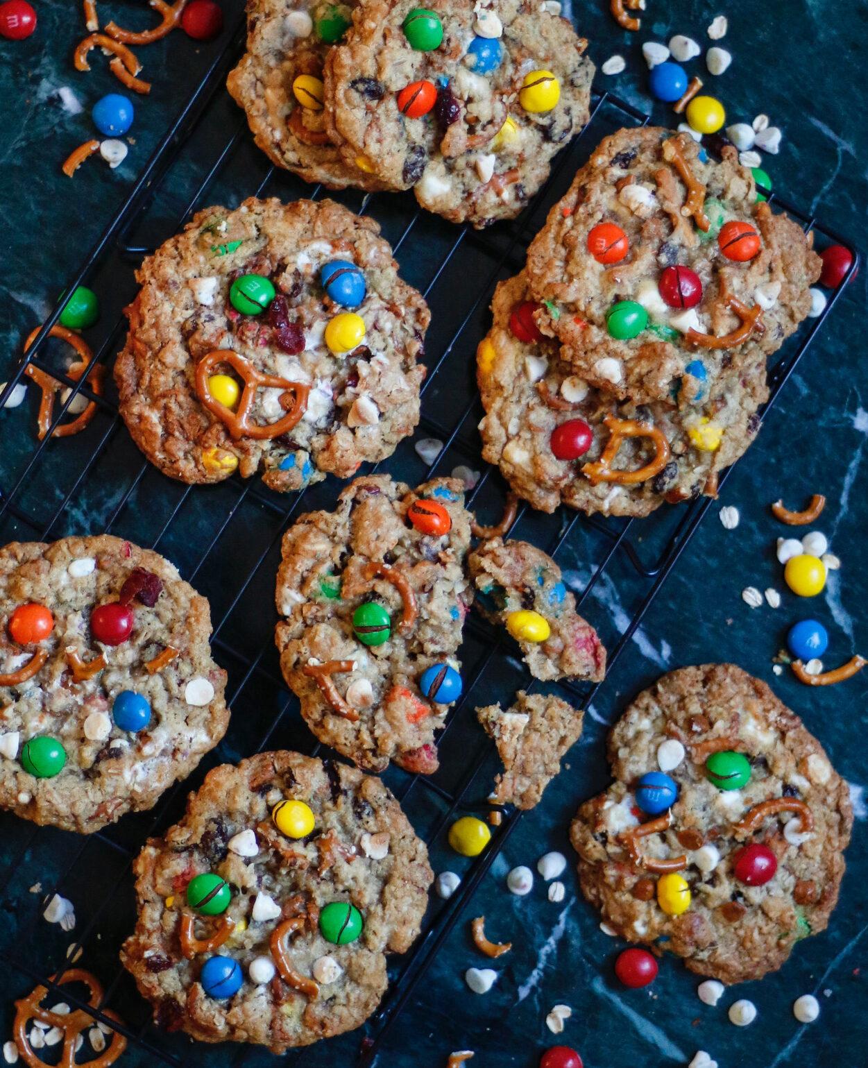 kitchen sink cookies, m&m cookies
