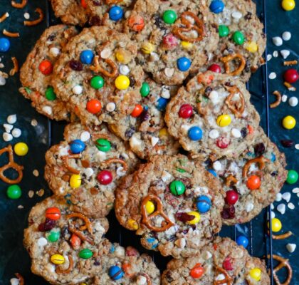 kitchen sink cookies, m&m cookies